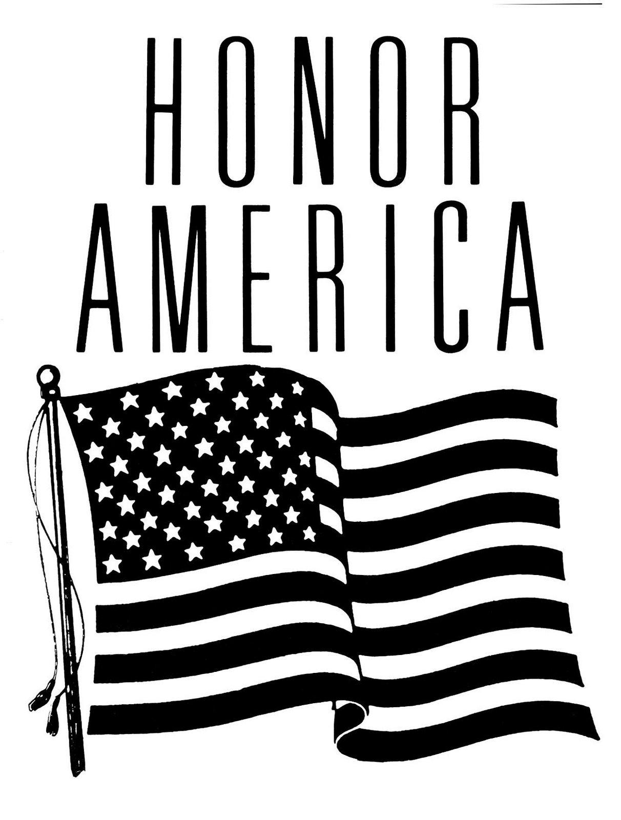 Flag Day Honor America Clip Art Public Domain Clip Art
