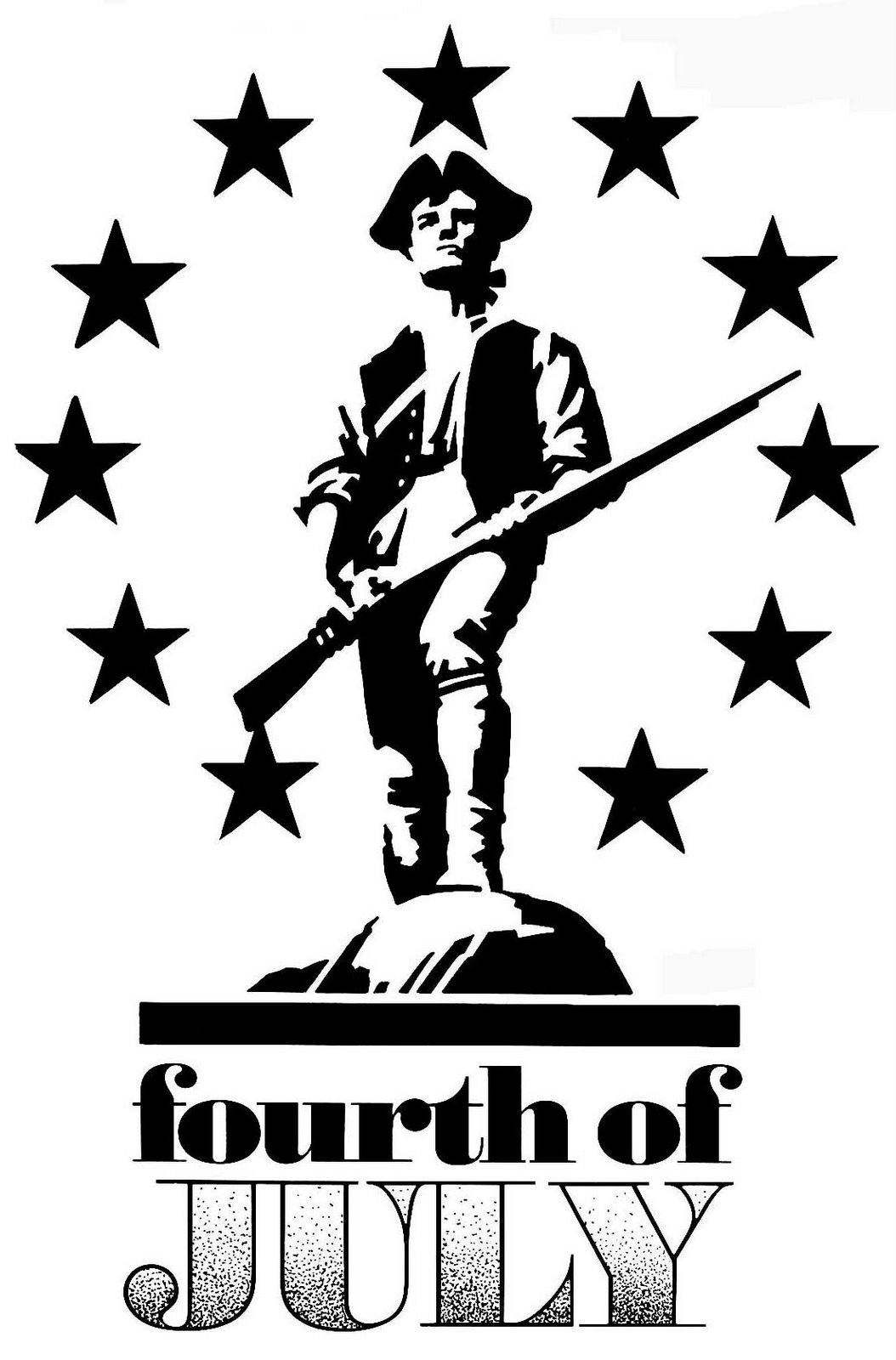 4th Of July Minutemen Public Domain Clip Art Photos And Images