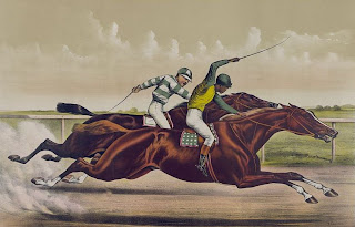 Currier & Ives--Great horses in a great race, Library of Congress, Prints & Photographs Division, [reproduction number, LC-DIG-pga-03207]