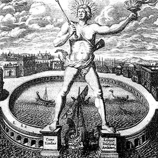 Seven Wonders of the World Colossus of Rhodes by Athanasius Kircher