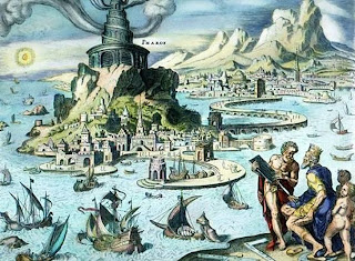 Seven Wonders of the World Lighthouse of Alexandria by Martin Heemskerck