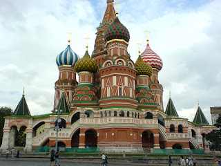 St Basil's Cathedral Moscow, Red Square, as seen from the West.