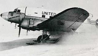 DC-3 Aircraft Que Sera Sera at the South Pole, Credit: National Science Foundation, United States Antarctic Program