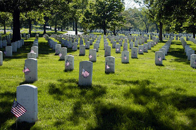 Memorial Day Arlington National Cemetery 'Flags In'