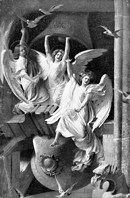 three angels ringing bells