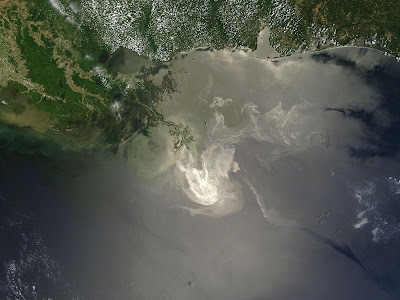 Deepwater Horizon BP Oil Spill Slick Satellite Image