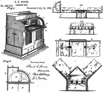 Sarah E. Goode Folding Bed Patent