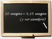20 megas = 9,35 megas (y no siempre)