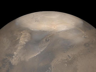 Tormentas de arena en Marte