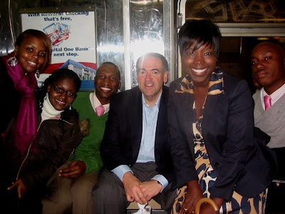 Huckabee and friends, NYC, 2008