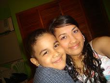 Mi ahijado Gabriel y mi hermana Luisana