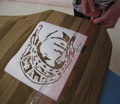 JenMeister: Freezer paper stencils with Brown Owls