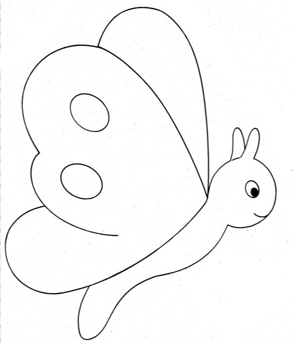 El rincon de la infancia mariposas para decorar - Plantillas infantiles para pintar paredes ...
