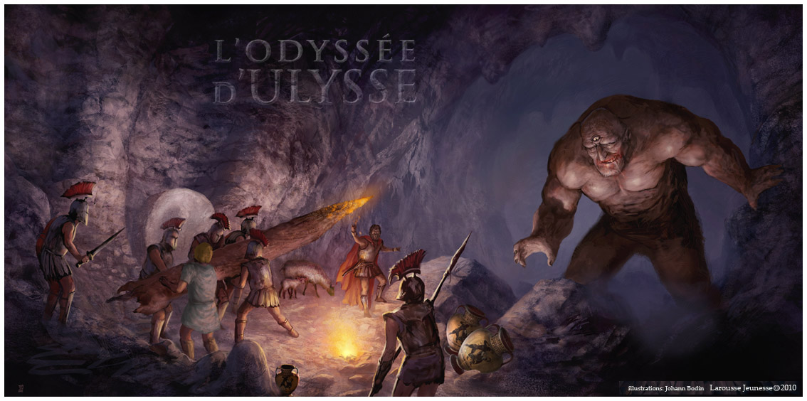 Rencontre d'ulysse et le cyclope