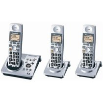 Panasonic KX-TG1033S Dect 6.0 Expandable Digital Cordless Phone System with 3 Handsets<br />