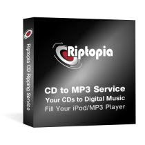 Riptopia CD-Ripping Service for iPod and MP3 Player Loading (200 CDs to Digital Music)