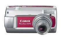 Canon PowerShot A470 7MP Digital Camera with 3.4x Optical Zoom (Red)
