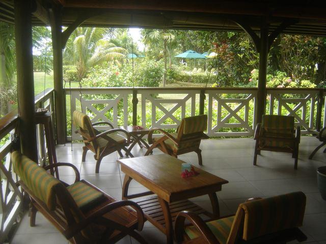 Salon de l'hotel Acajou - Praslin Seychelles