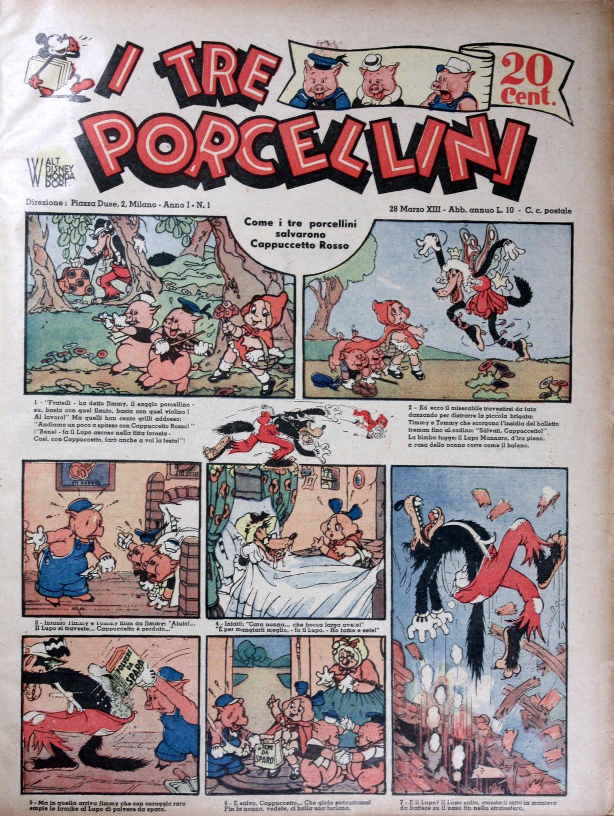 Fumetti classici I Tre Porcellini 1 arriva Mondadori