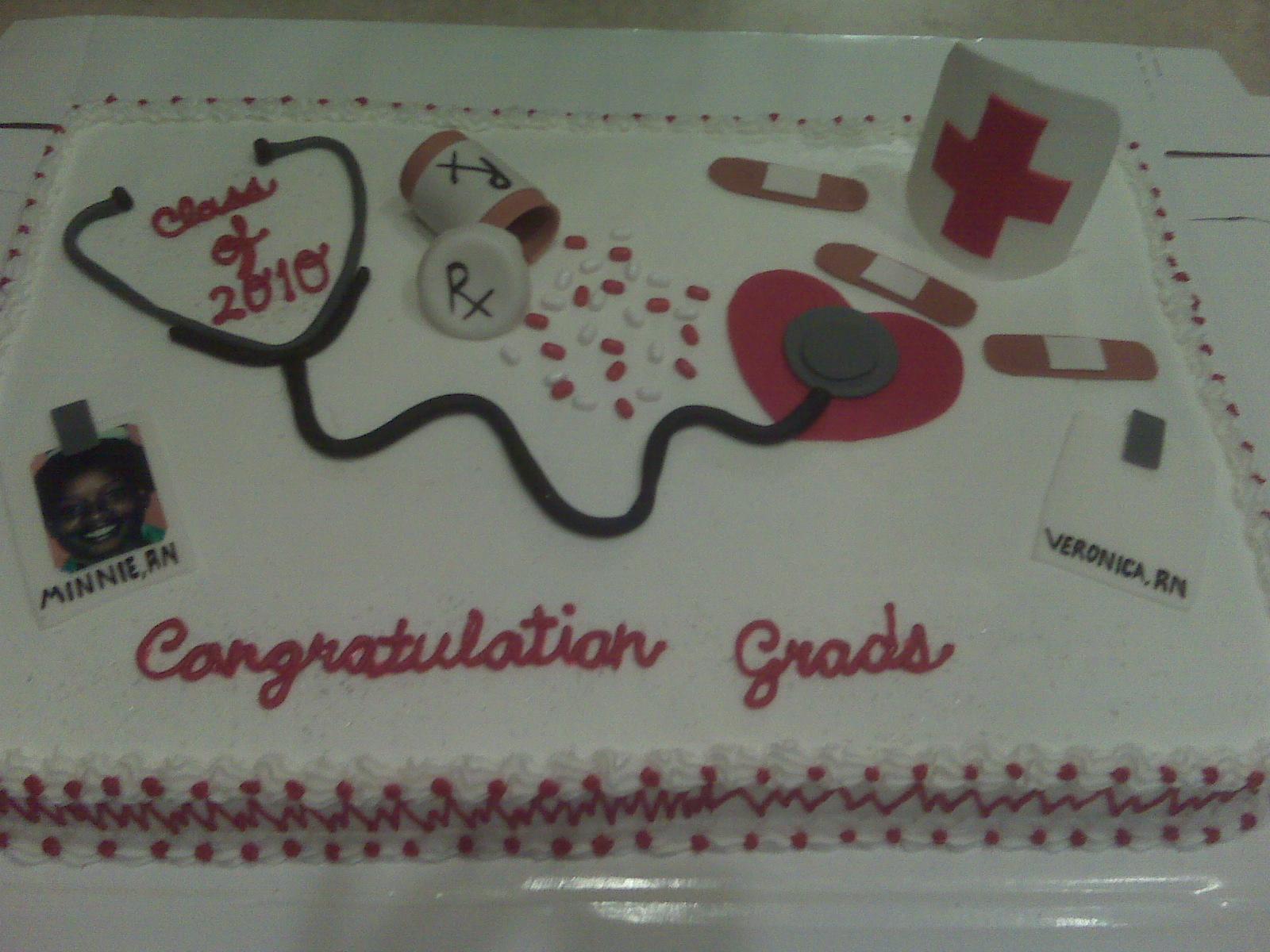 Ace S Desserts Nurse S Graduation Cake