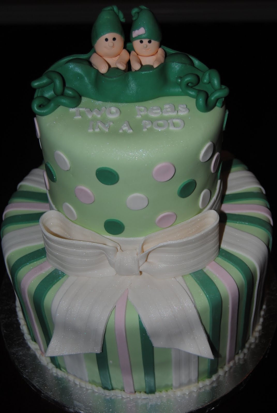 Two Peas In A Pod Baby Shower Diaper Cake