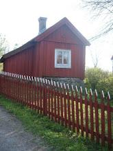 Röda gamla hus
