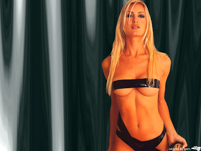 Caprice Bourret topless