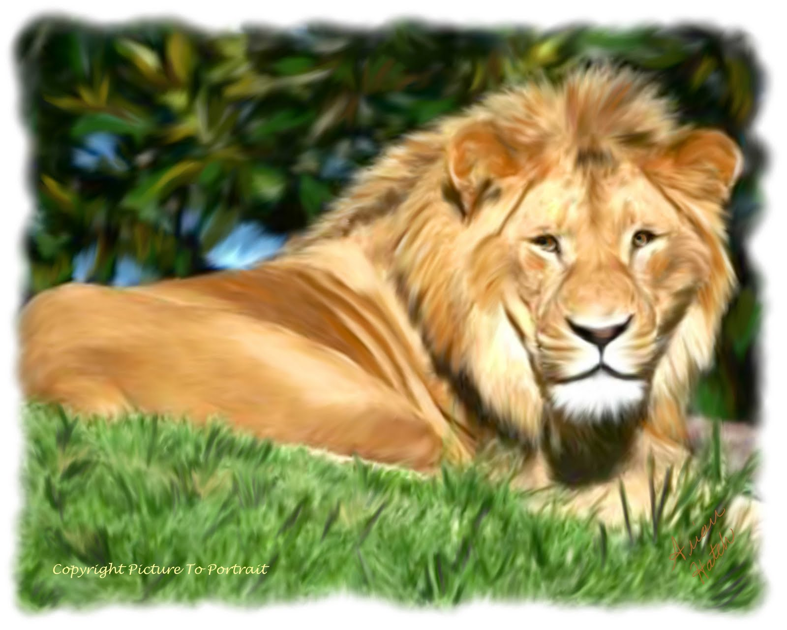 animals letter start animal begin lion am name sure something painted pre