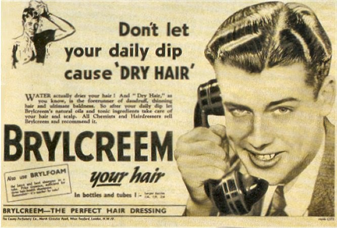 Brylcreem Hair Styles: The Hair Hall Of Fame: Brylcreem: A Little Dab'll Do Ya