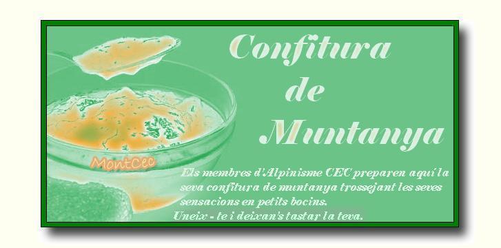 Confitura de Muntanya. Alpinisme CEC