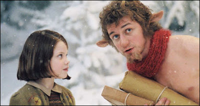 Georgie Henley and James McAvoy in The Lion, the Witch and the Wardrobe