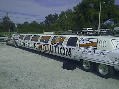 Ron Paul's stretch limo SUV