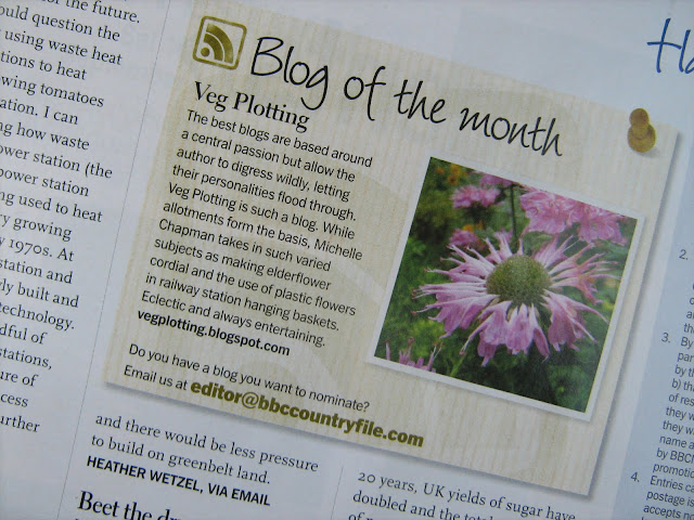 Countryfile Magazine Blog of the Month citation