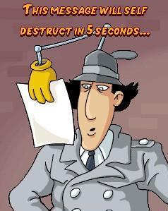 Essa mensagem se auto-destruirá em 5 segundos