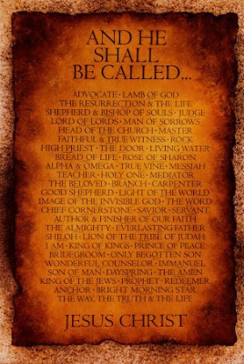 I AM, The Word, and The Comforter: Jesus : Names of Jesus M-Y