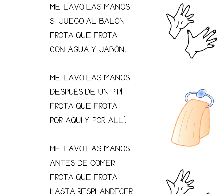 Maestra De Infantil Canci 243 N Me Lavo Las Manos