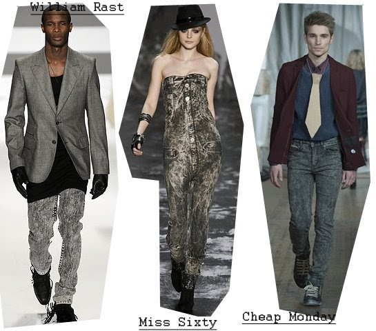 INDIGO SLIMS: DENIM CATWALK TRENDS: BLACK ACID WASH