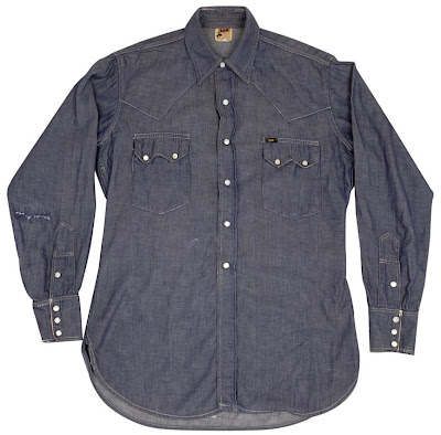 6d562bc1714 VINTAGE LEE RIDER SAWTOOTH DENIM SHIRT ~ indigoslimss