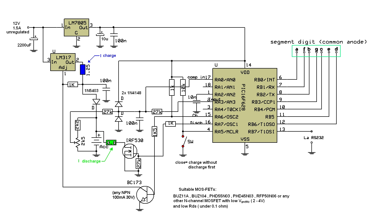 Free Electronic Circuit Diagram Architectural Types Intelligent Battery Charger Pic16f628