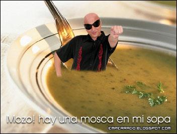 mozo, hay una mosca en mi sopa, La Mosca, cantante, plato