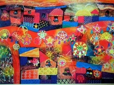 Living And Loving Art Starry Night From UNICEF Christmas Card Artist Manuel D Baldemor