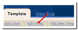 Click on 'edit html' tab