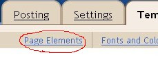 click on the page elements tab