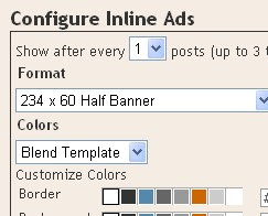 configure the ads