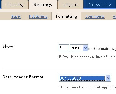 Change the Date Header Format