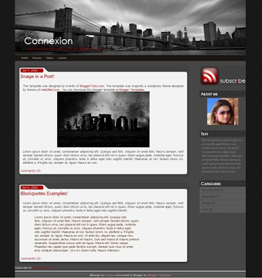 Connexion Blogger Template Screenshot