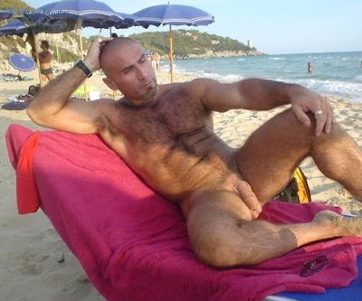 With Nude beach furry brazil hunk