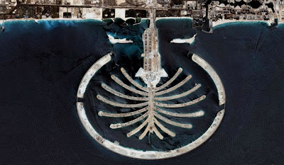 photo satellite Dubaï