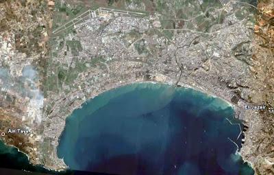 Photo satellite Baie Alger Algerie