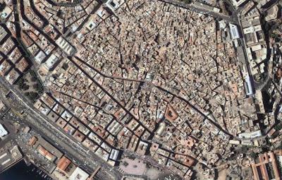 Photo satellite Casbah Alger Algerie